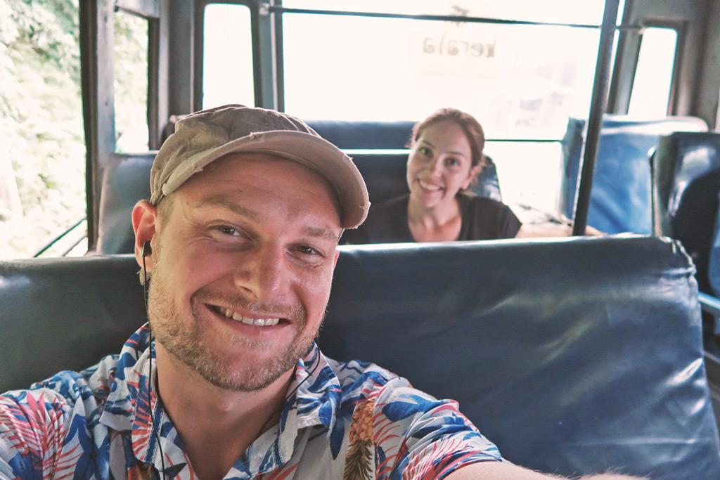 Munnar in Indien - Localbus