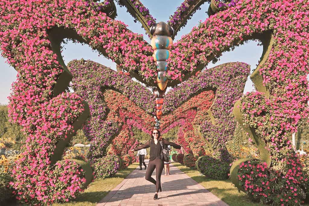 Fotoshooting im Miracle Garden con Dubai