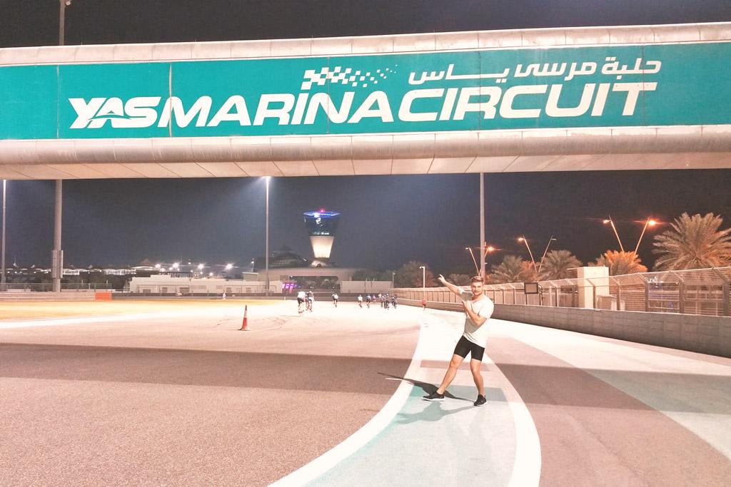 Reisetipps Dubai - Joggen auf dem Yas Marina Circuit
