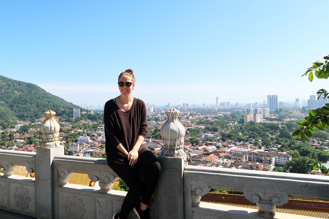 Vom Kek Lok Si Tempel hast du einen grandiosen Panoramablick über George Town