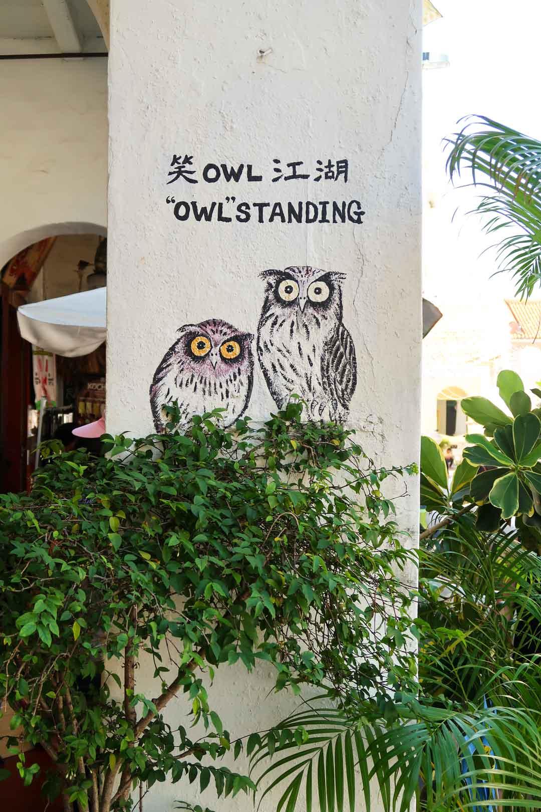 Überall versteckt sich Streetart in Penang