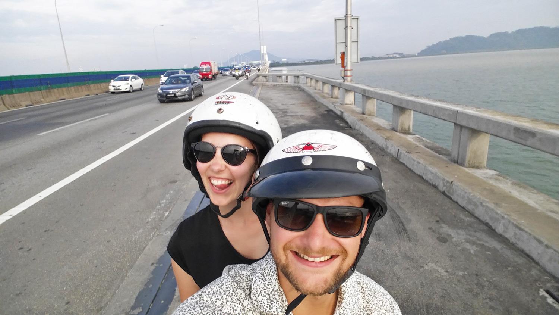 Von George Town nach Butterworth über die Penang Bridge