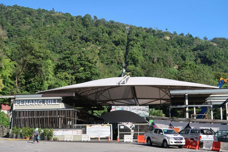 Der beste Aussichtspunkt auf George Twon ist definitiv auf dem Gipfel des Penang Hill