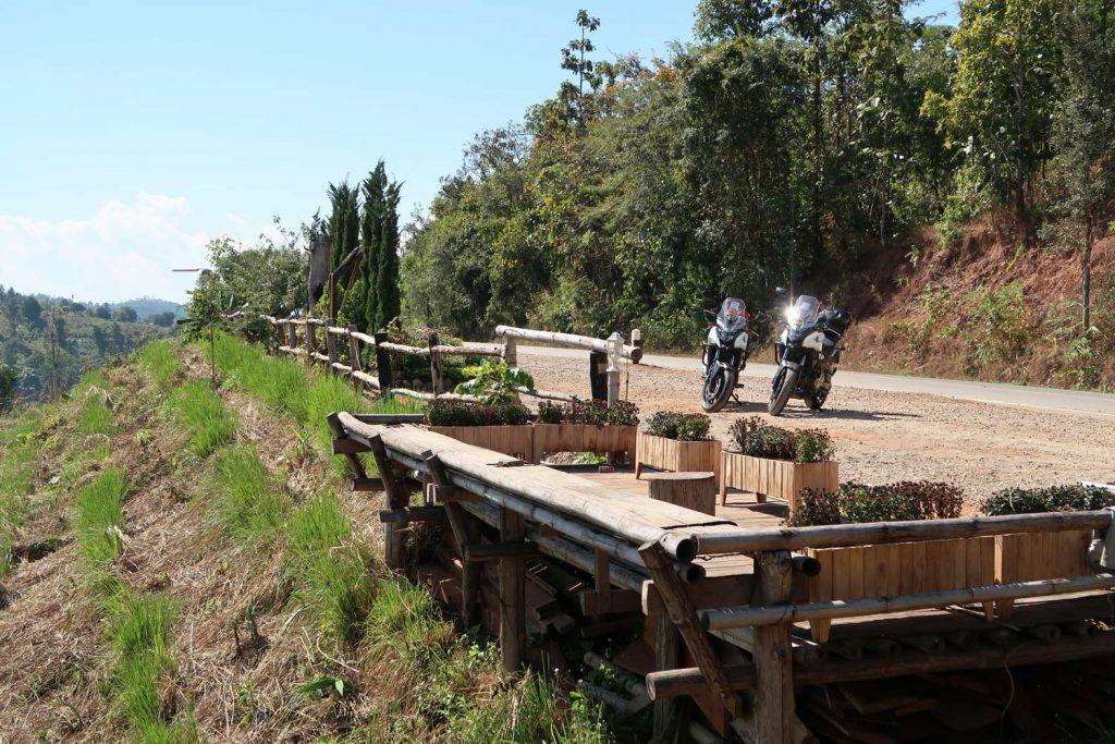 Motorradtour in Thailand - Mae Sariang nach Mae Hong Son - Parkplatz