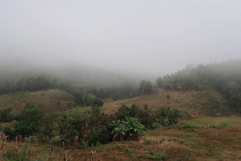 Mae Chaem nach Mae Sariang - Nebel auf der Motorradstrecke