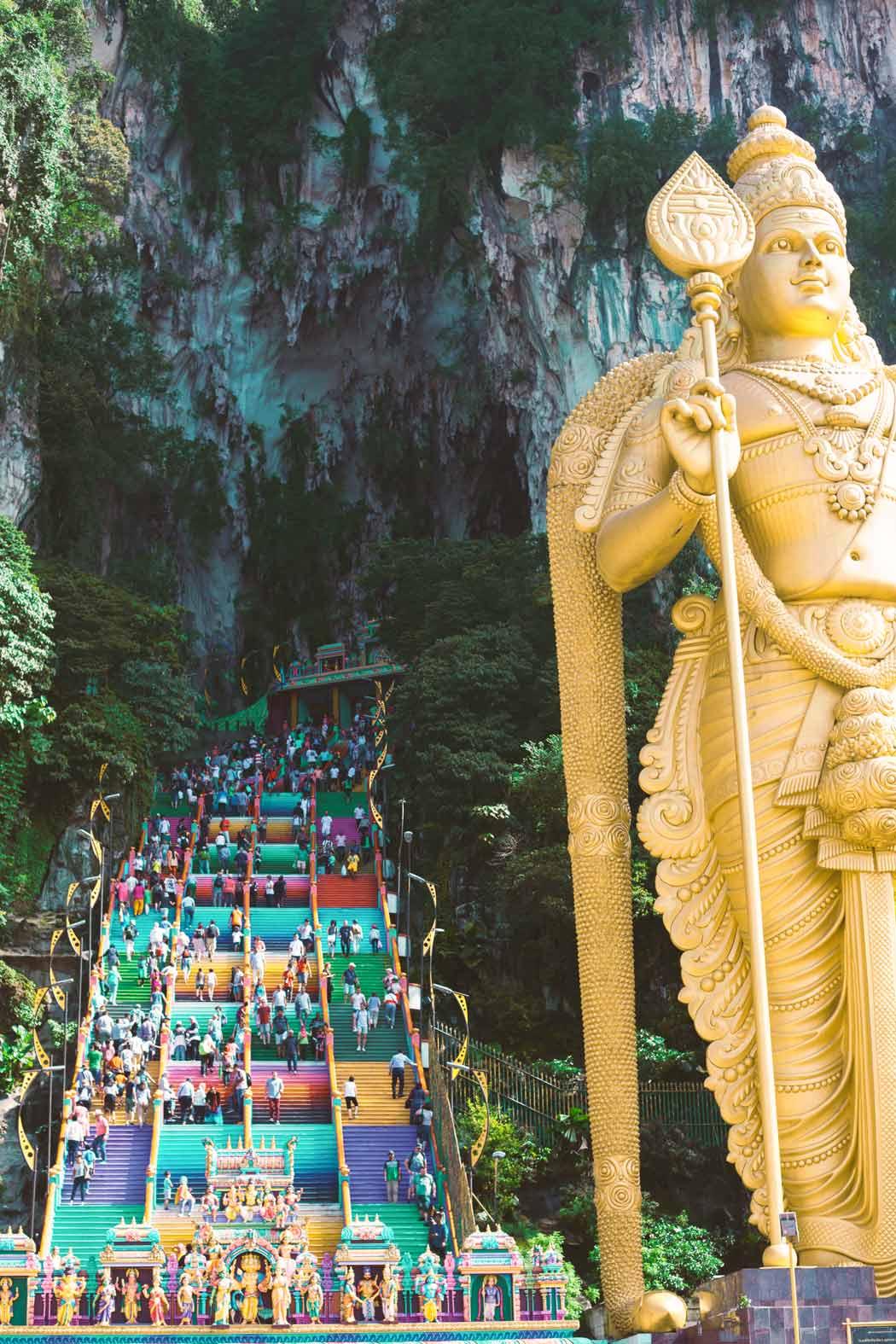 Kuala Lumpur Sehenswürdigkeiten: Die hinduistischen Batu Caves
