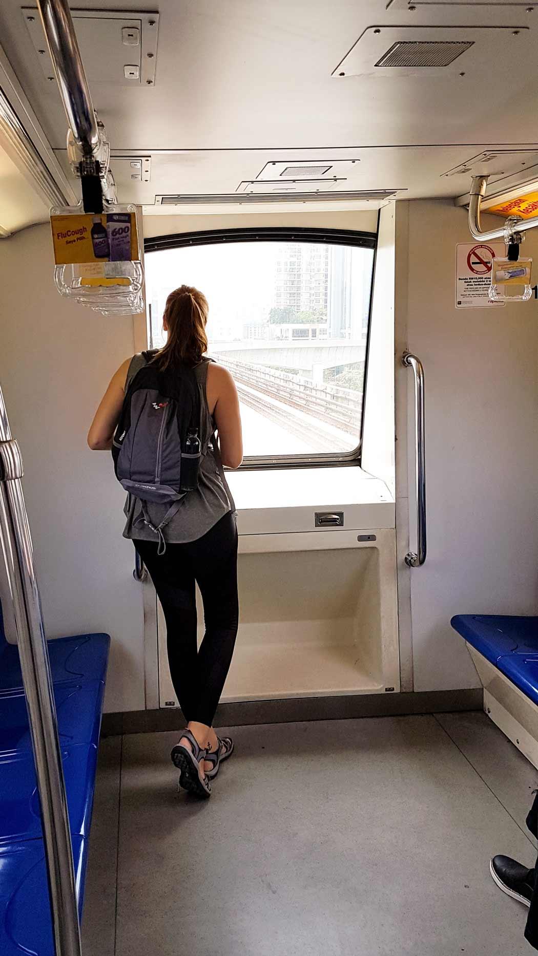 Kuala Lumpur hat ein gut ausgebautes Bahnnetz