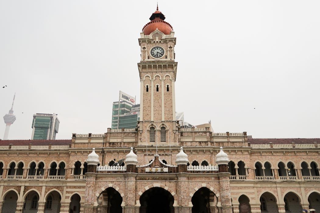 Das Sultan Abdul Building am Merdeka Square in Kuala Lumpur