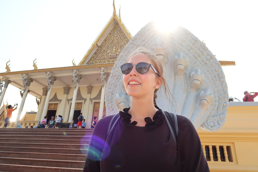 Strahlender Sonnenschein in Phnom Penh.