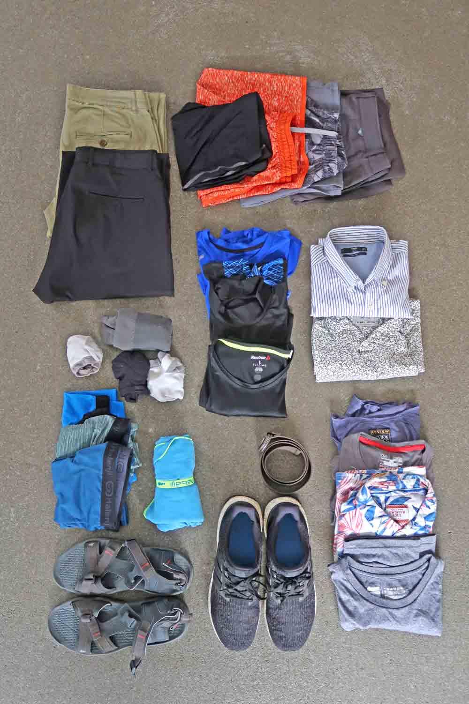 Packliste Weltreise Kleidung für warme Regionen