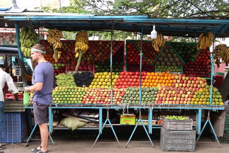 Obststand in Fort Kochi