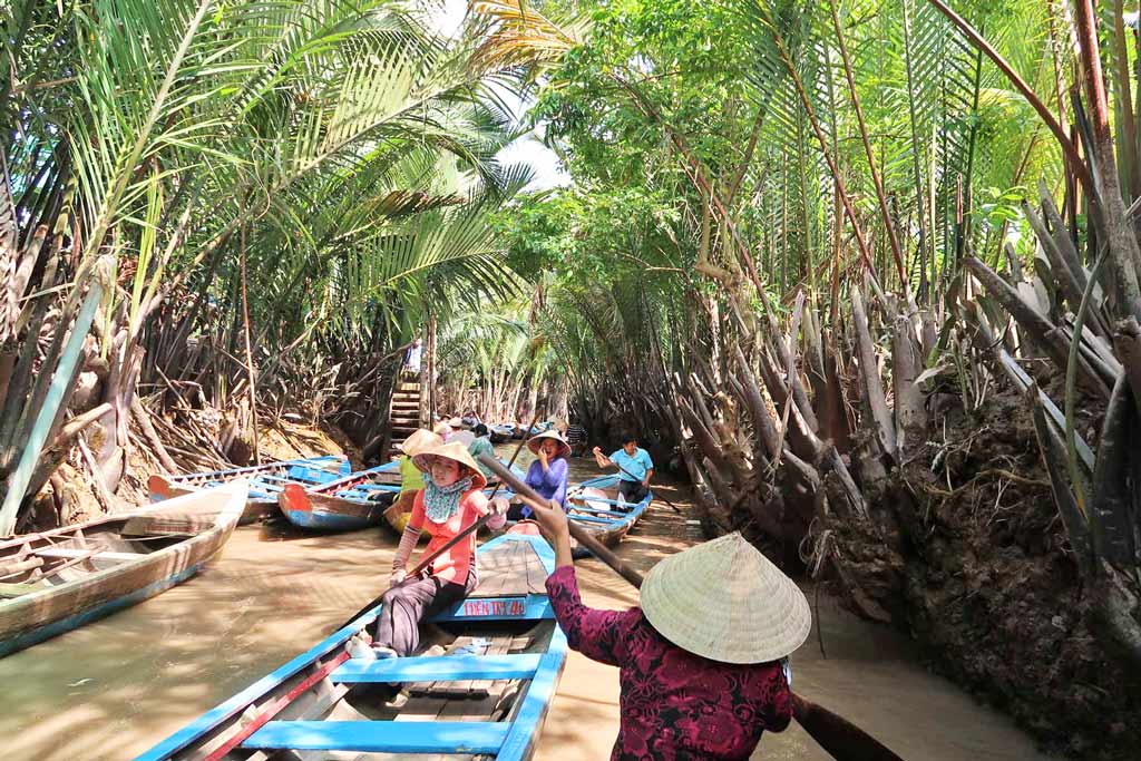 Bootstour durch die Gassen im Mekong Delta - Ho Chi Monh City - likeontravel