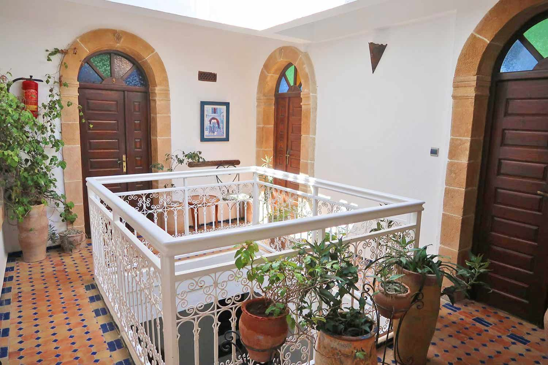 Innenhof eines Riads in Essaouira