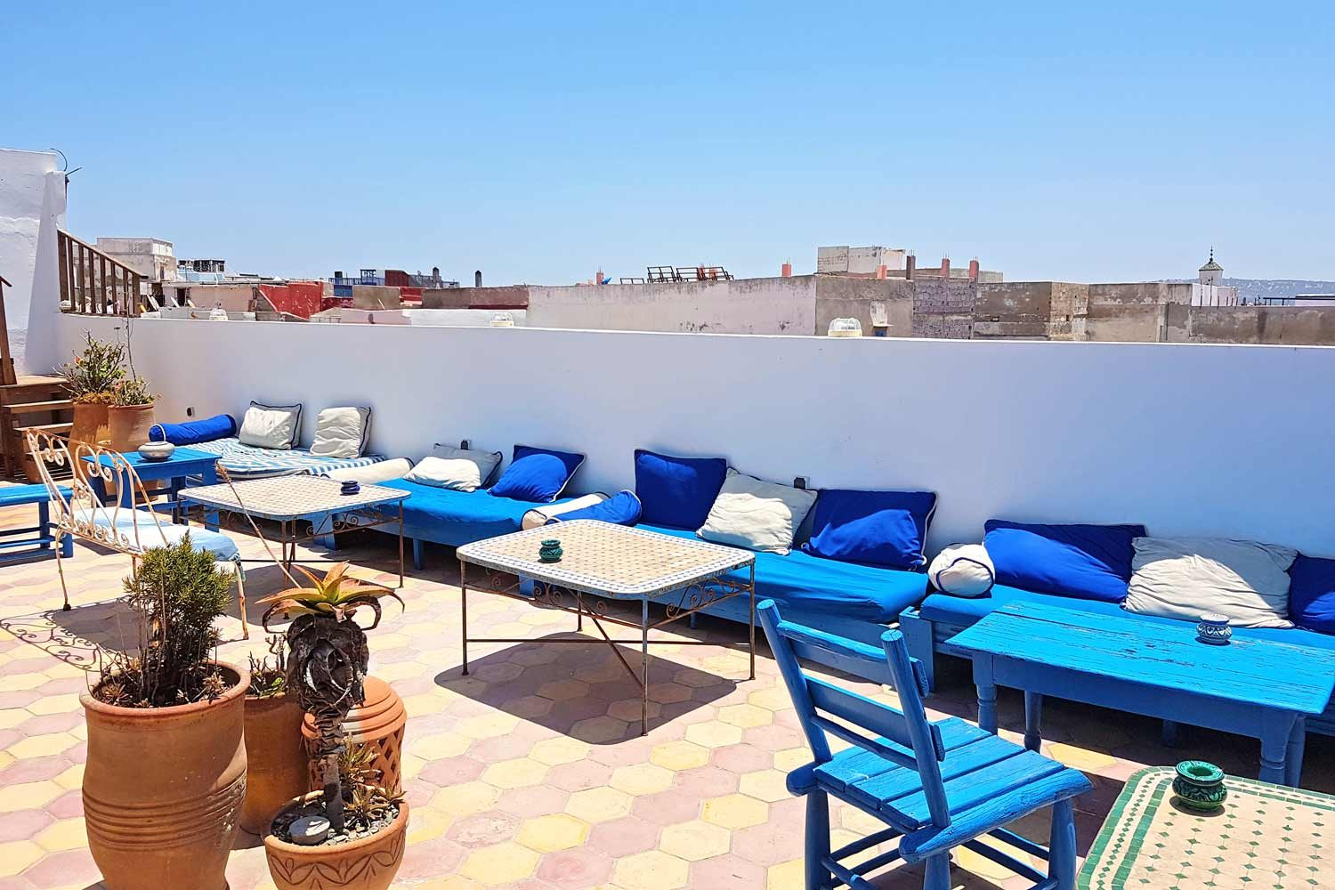 Terasse des Riads Le Grand Large in Essaouira