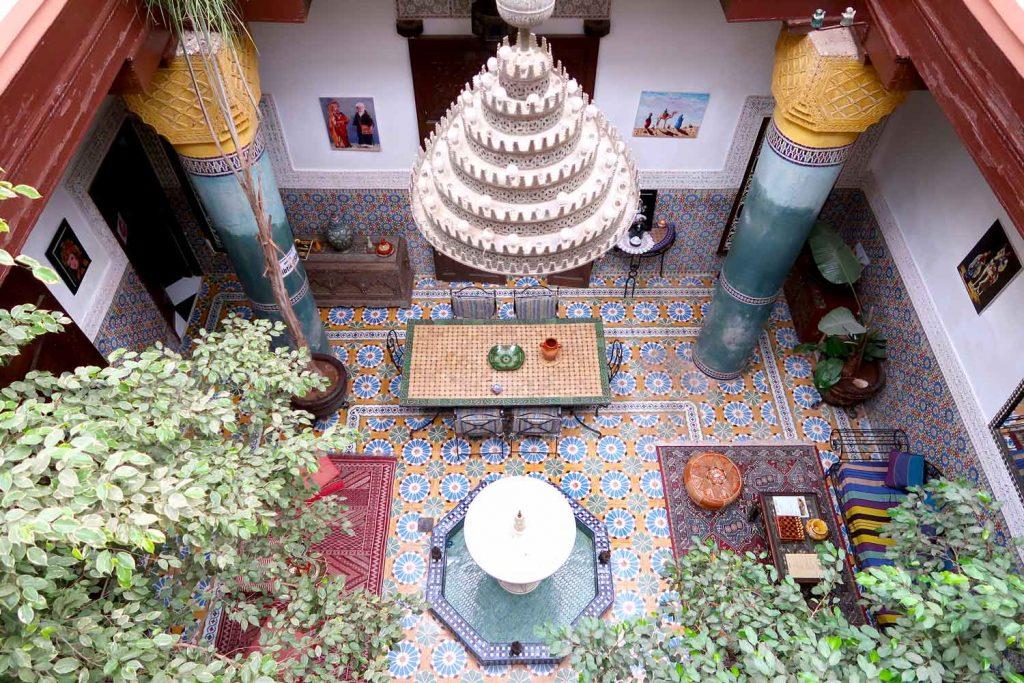Innenhof des Riad Bibtia in Marrakesch - likeontravel