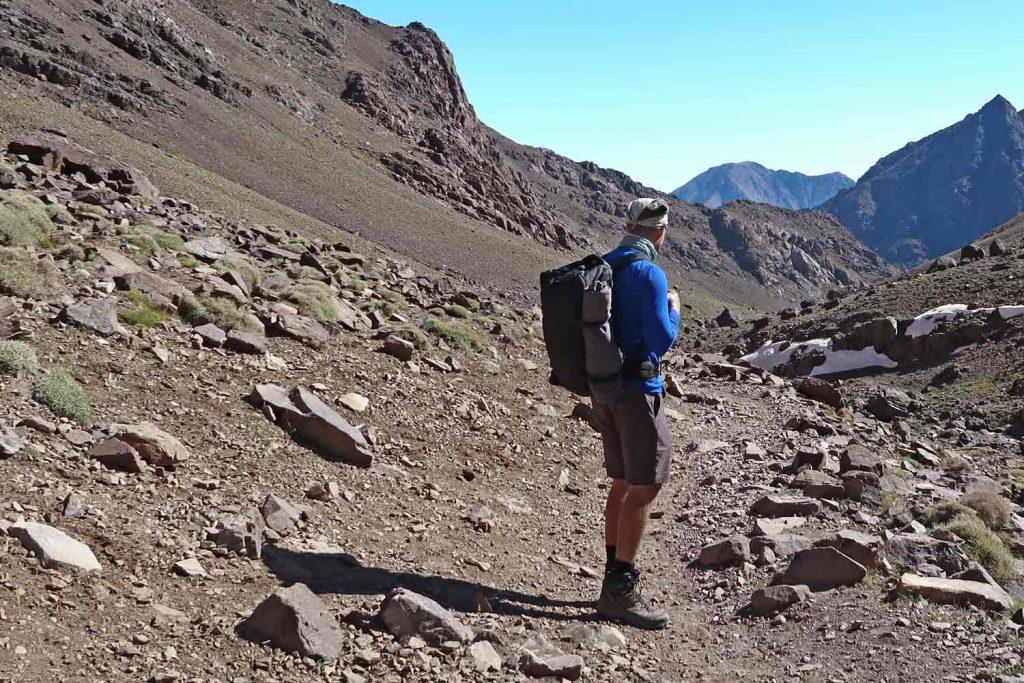 Der Pacsafe Handgepäcksrucksack im Atlasgebirge
