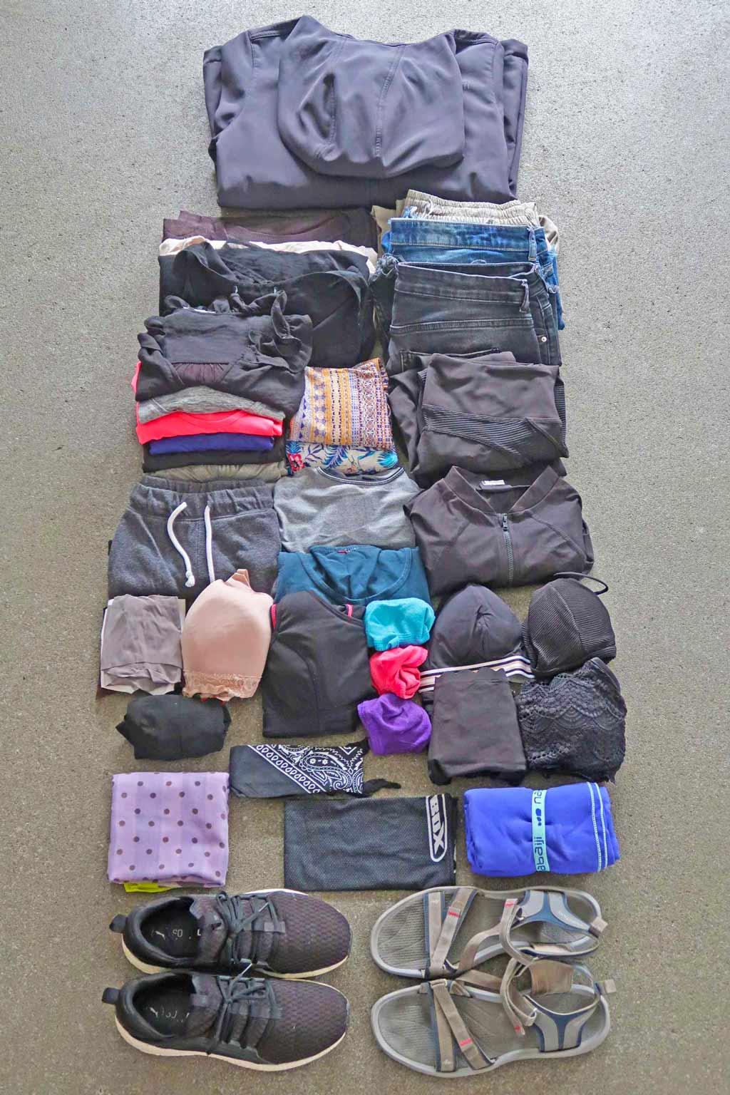 Kleidung für eine Weltreise - Packliste likeontravel