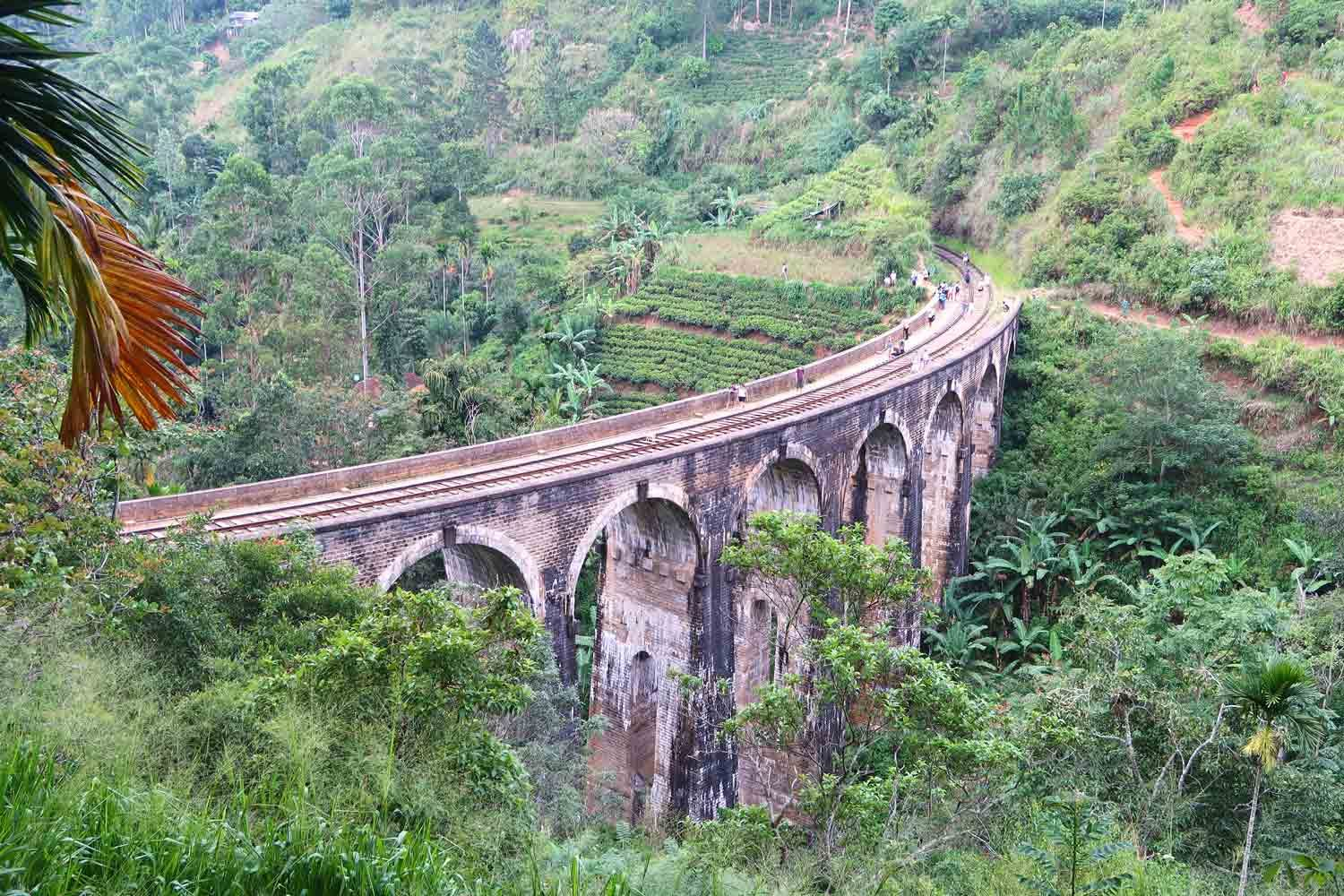 Die Nine Arch Bridge inmitten der Natur in Ella Sri Lanka