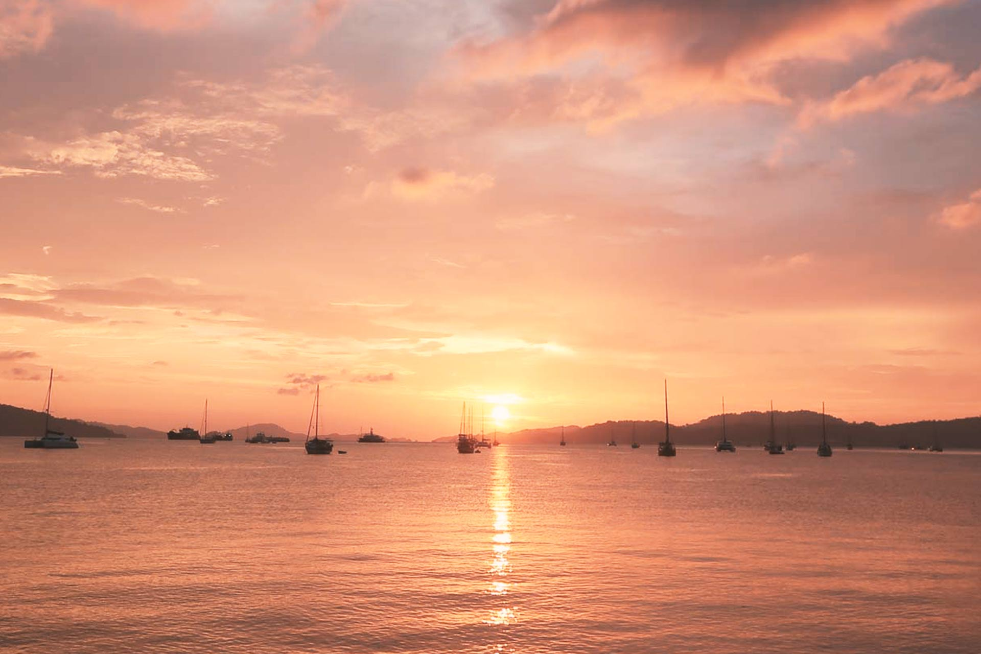 Land Malaysia Sonnenuntergang