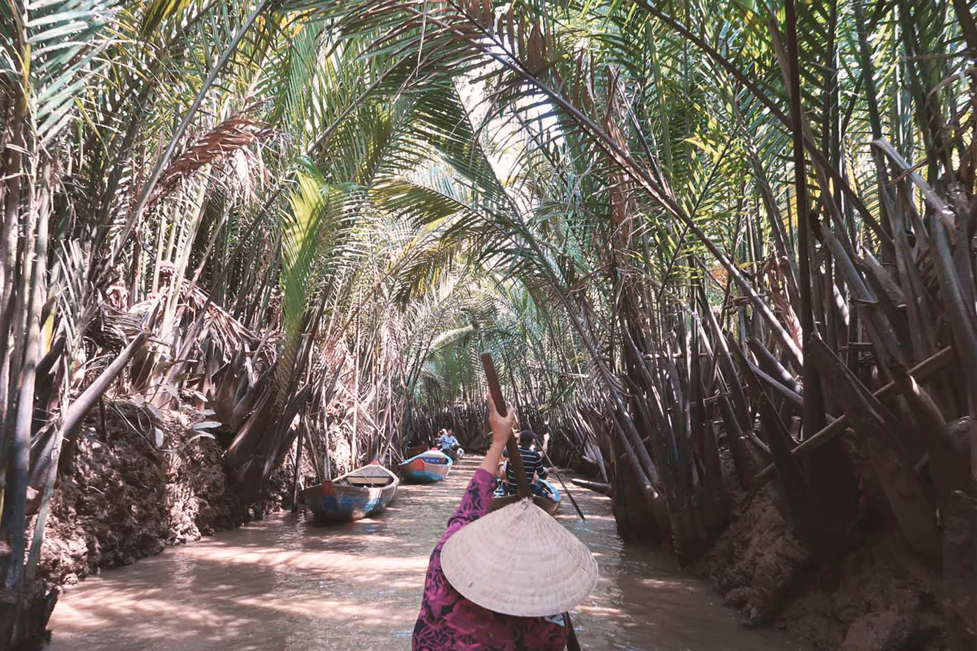 Reiseland Vietnam - Bootsfahrt durch das Mekong Delta