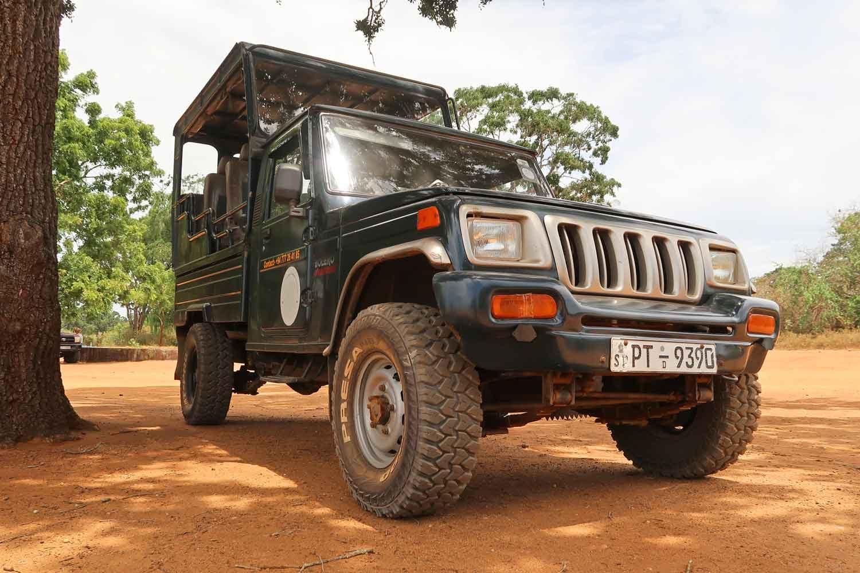 Jeep bei einer Safari im Yala Nationalpark