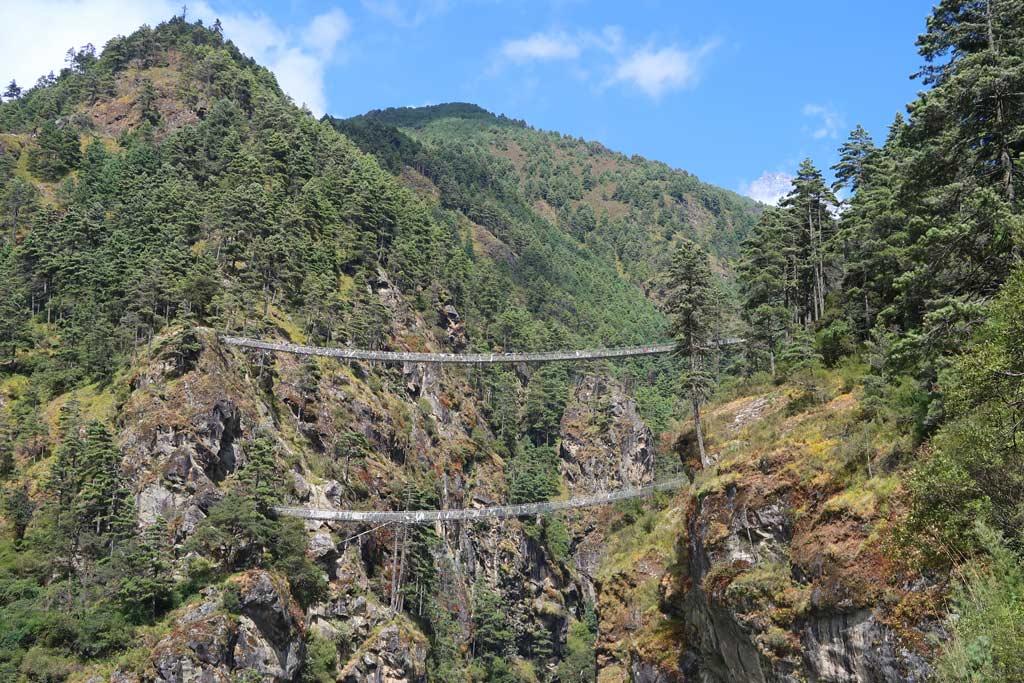 Tenzing Hillary Doppelbrücke auf dem Everest Base Camp Trek - Likeontravel