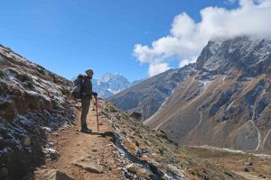 Wanderer auf dem Everest Base Camp Trek