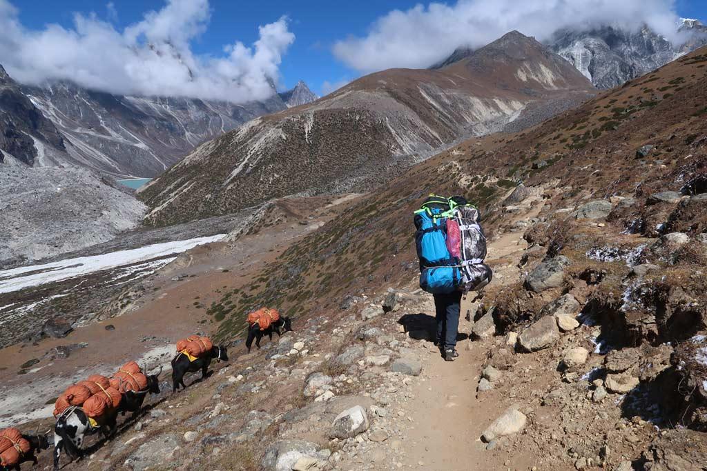 Porter auf dem Everest Base Camp Trek