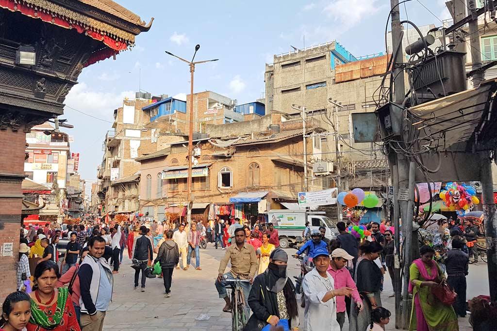 Innenstadt von Kathmandu Thamel