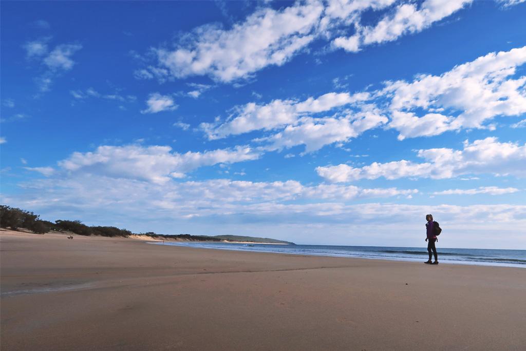 In Agnes Water, Queensland gibt es einen kilometerlangen Sandstrand