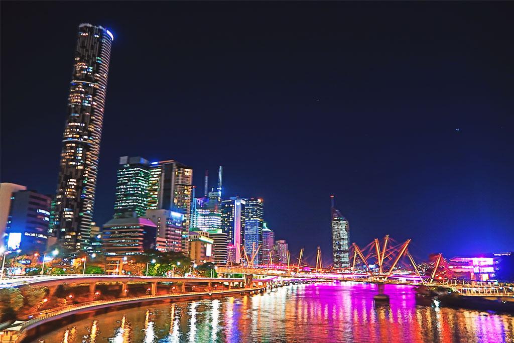 Brisbane ist die Hauptstadt des Bundesstaates Queensland, Australien Ostküste