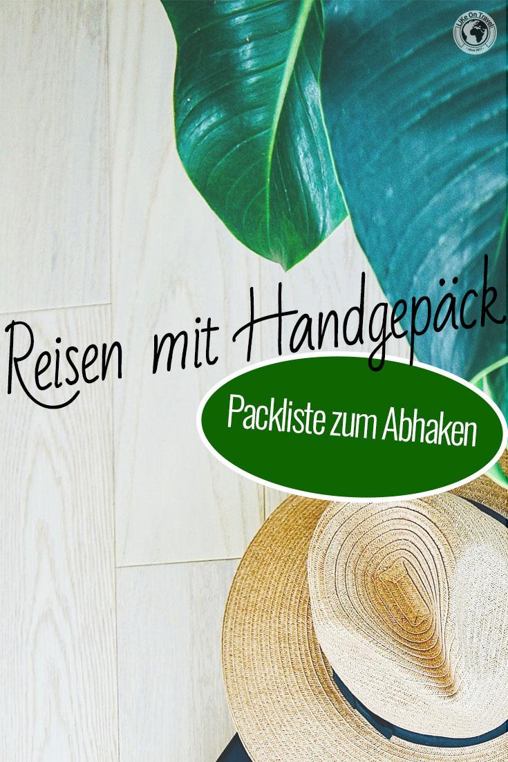 Deine GRATIS Handgepäck-Packliste zum Abhaken! #download #abhaken #packliste #handgepäck #carryon #reiseblog #reiseplanung #reisetipps #leichtesreisen #wasmussmit #langzeitreise #weltreisepackliste #packtipps