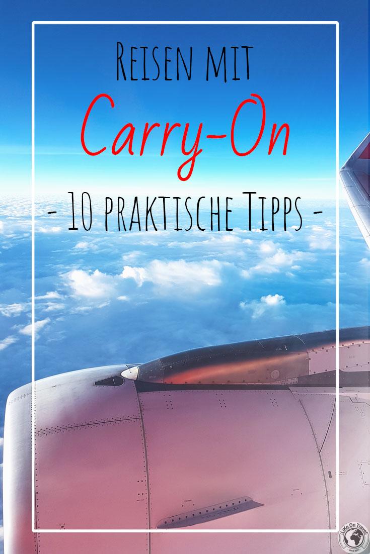 Reisen mit Handgepäck - 10 praktische Tipps für Dich! #reiseplanung #gepäck #reiseblog #reisetipps #carryon #packliste