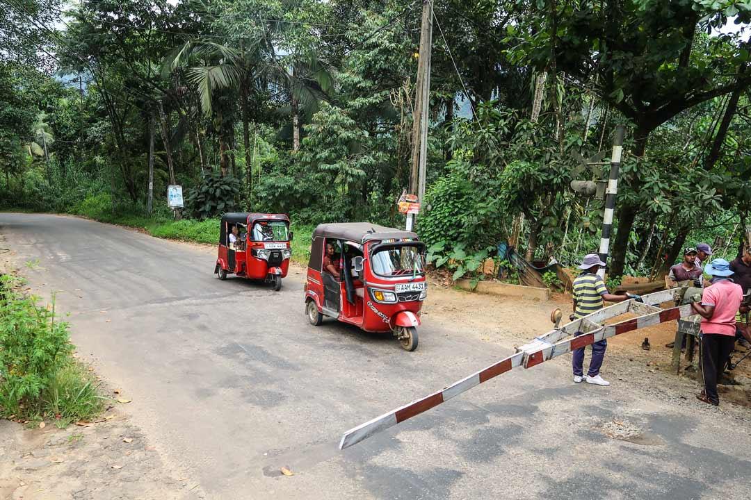 Langsamer Zug in Sri Lanka