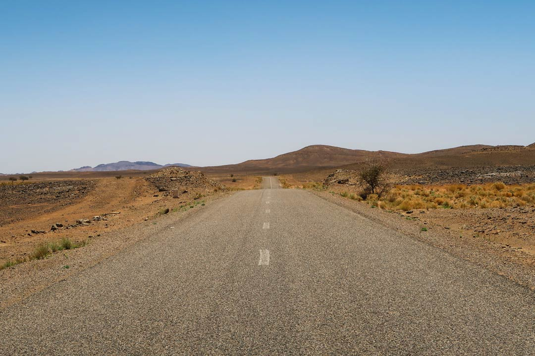 Straßen in Marokko Wüste