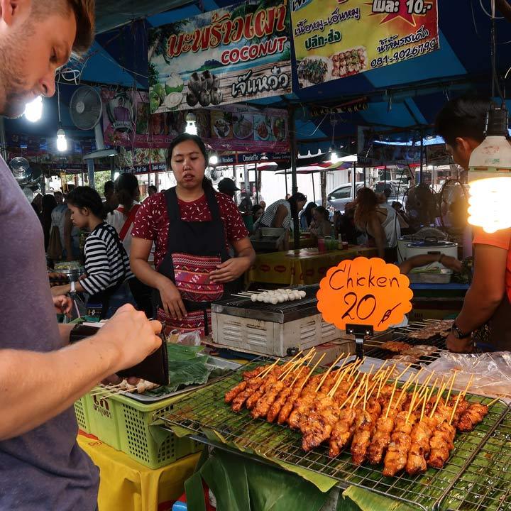 Chatuchak Market Sonntags Essenstände