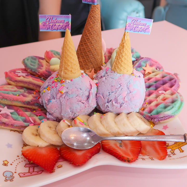 Unicorn Cafe Eis Rainbow Color