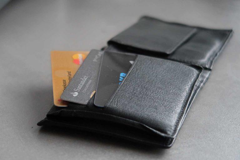 Portemonnaie mit Reisekreditkarten