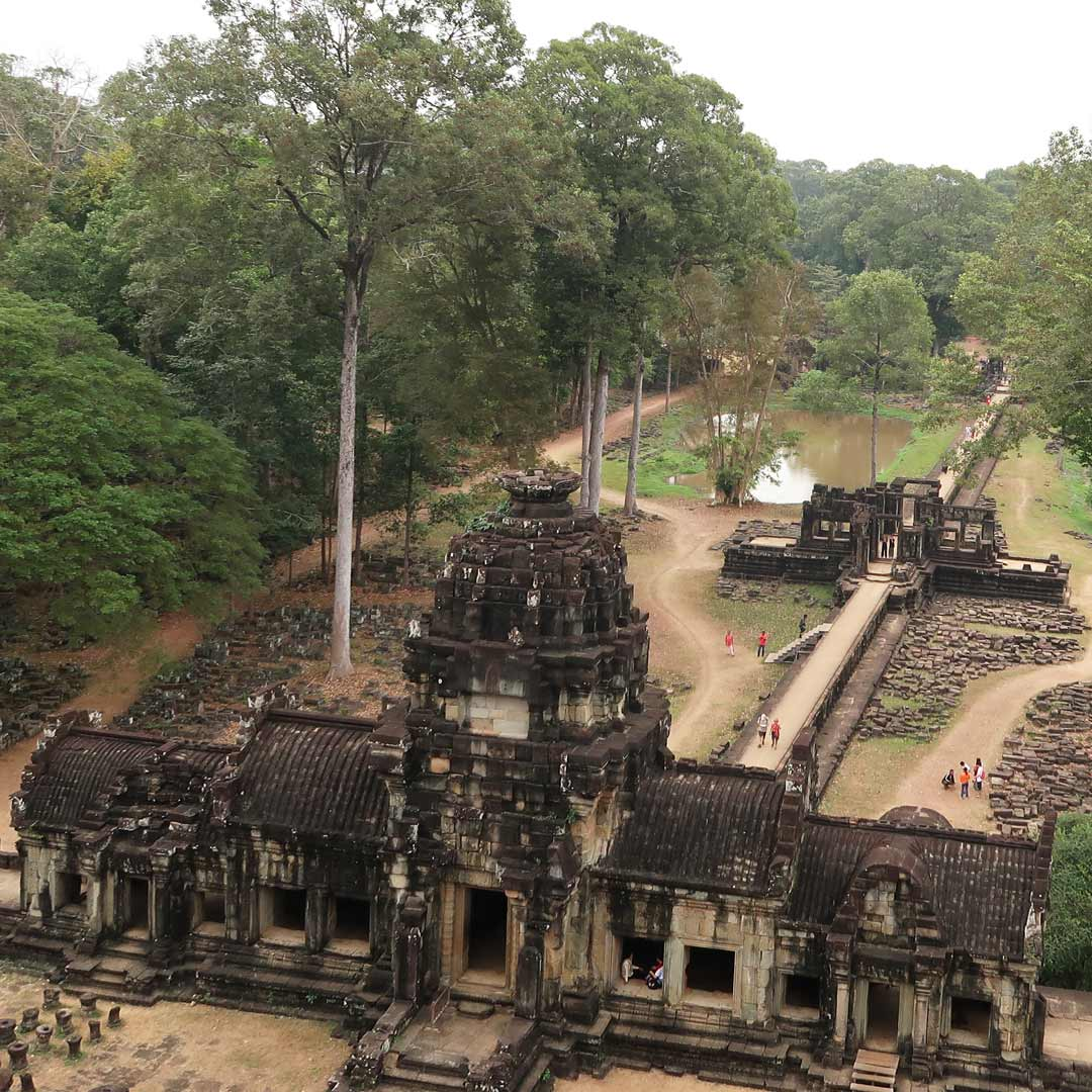 Der imposante Angkor Thom in Kambodscha