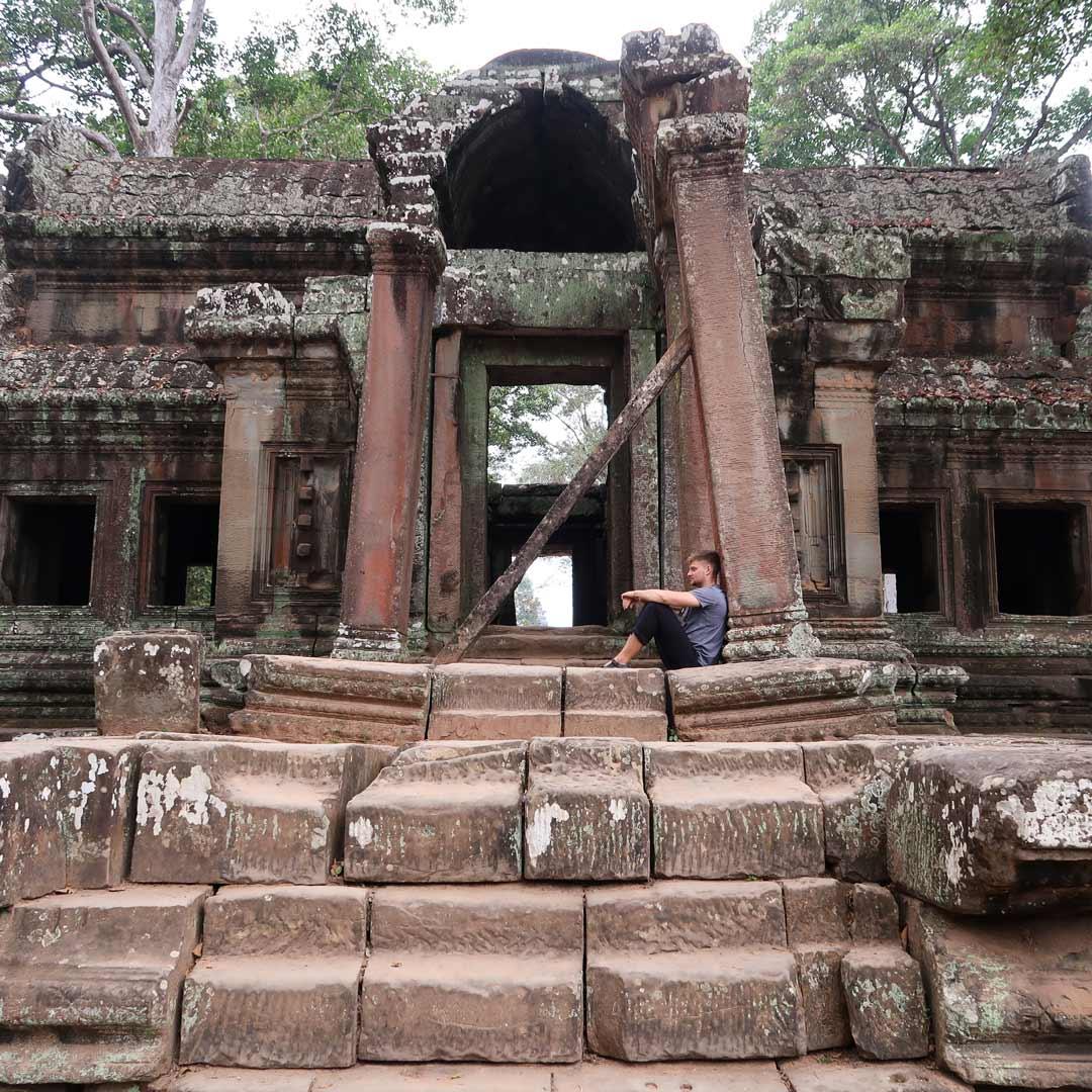 Verfallene Ruinen im Angkor Park, Kambodscha