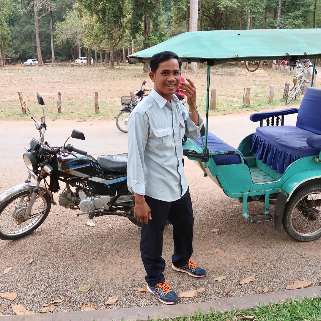 Mit dem Tuk Tuk durch den Angkor Park