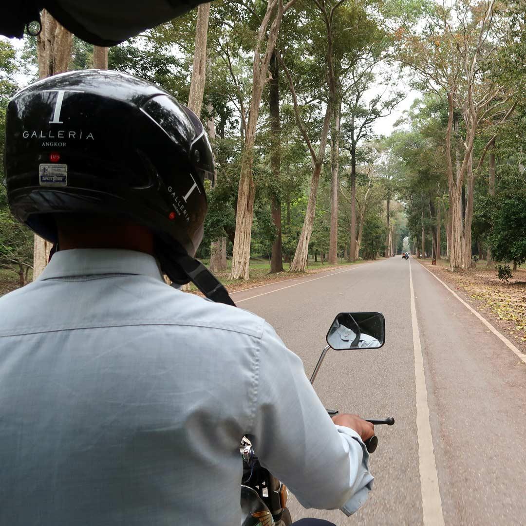 Ein Tuk Tuk ist eine gute Fortbewegung im Angkor Park