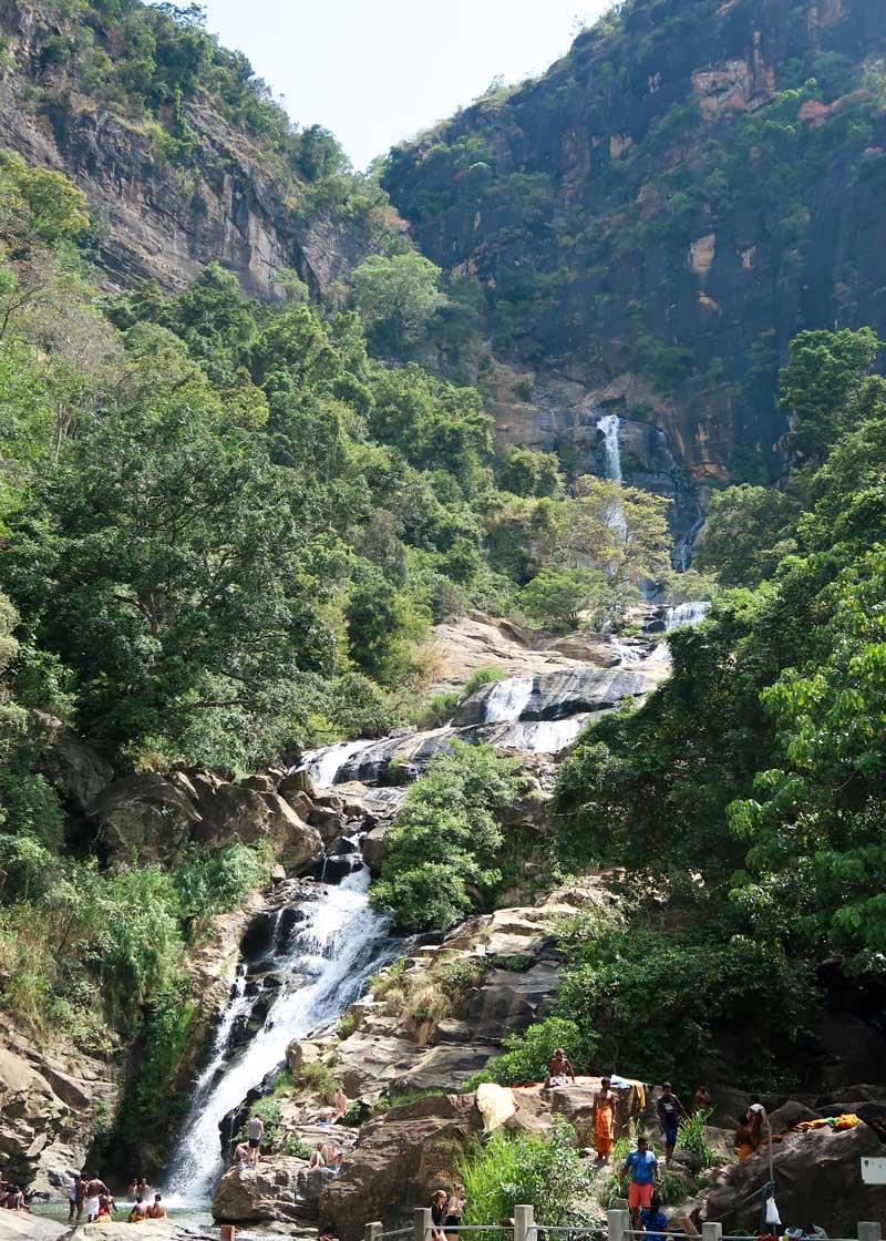 Ravanna Wasserfälle bei Ella Sri Lanka