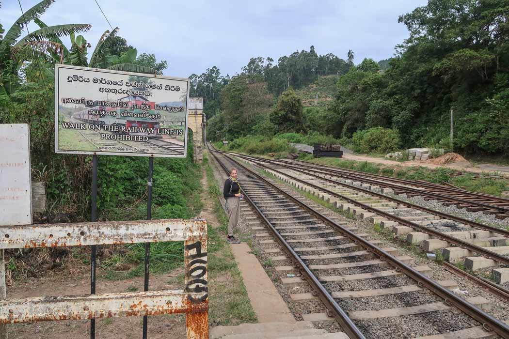 Der Bahnhof in Ella