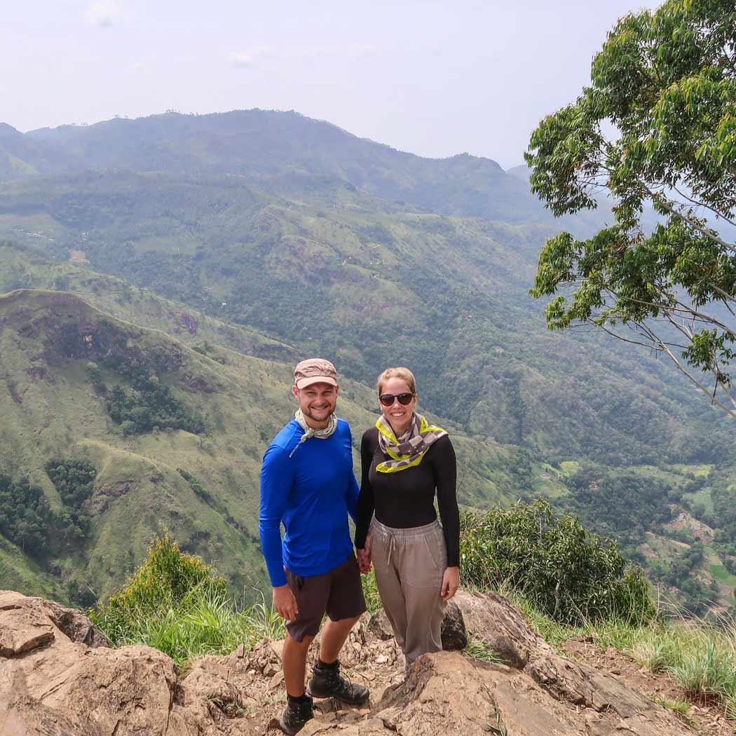 Die Aussicht vom Ella Rock in Sri Lanka