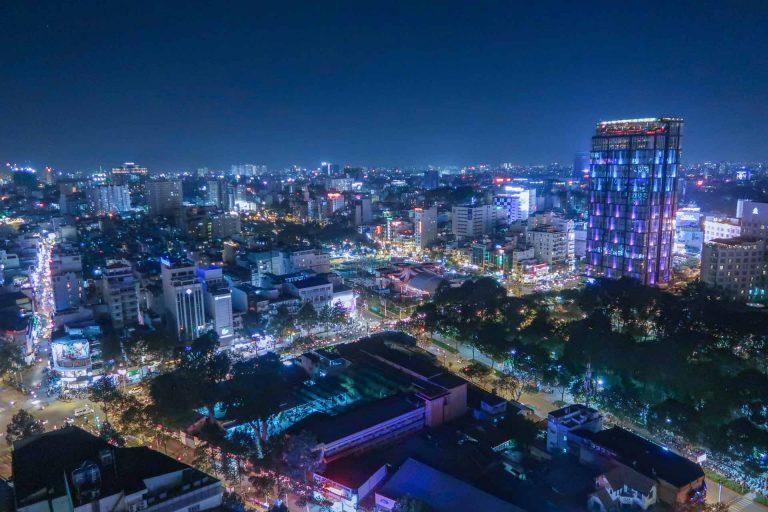 Saigon bei Nacht Sehenswürdigkeiten