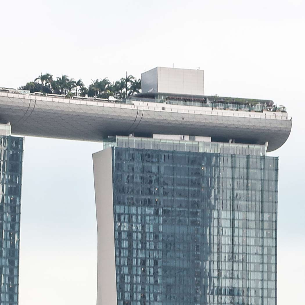 Marina Bay Sands in Singapur Schiff