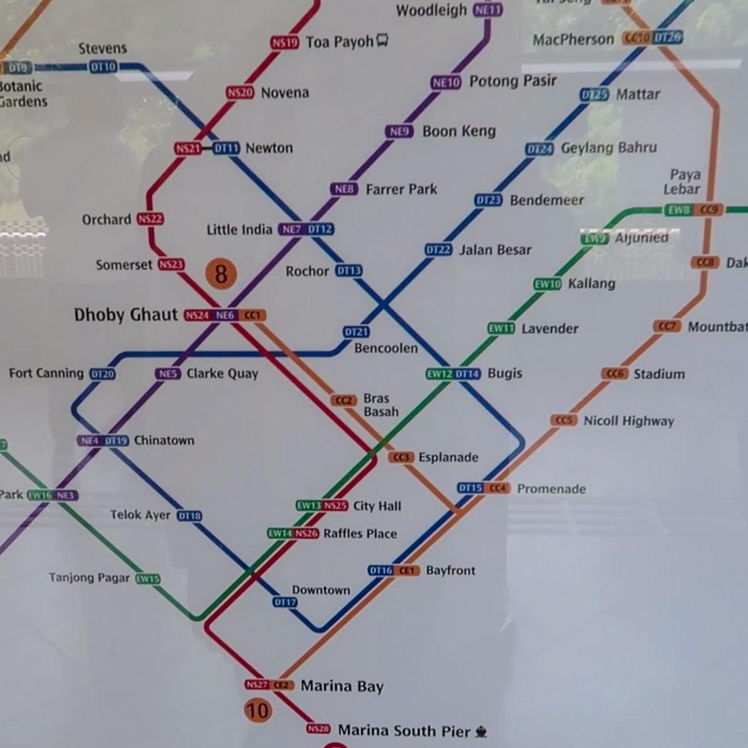 Schienensystem in Singapur