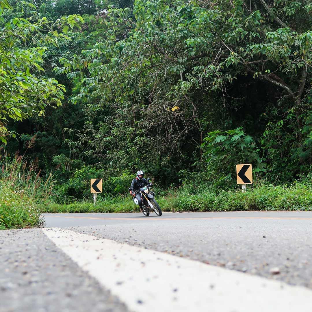 Die Straßen des Mae Hong Son Loop in Chiang Mai