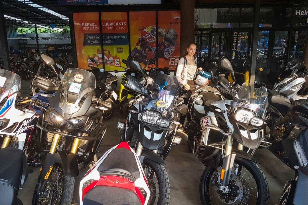 Motorradverleih in Chiang Mai